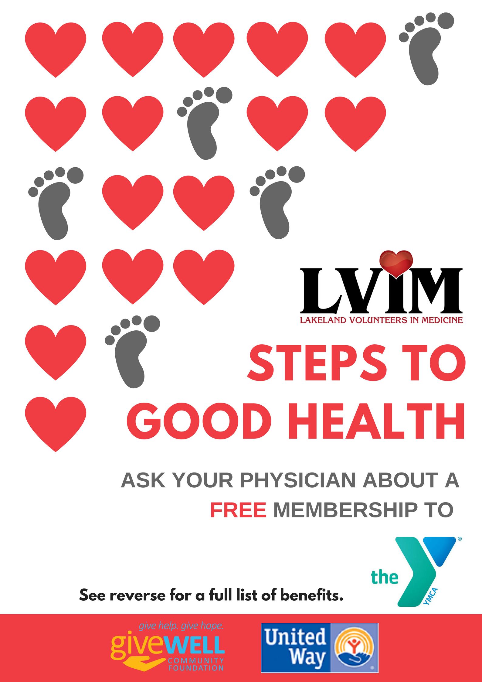 Steps To Good Health Lakeland Volunteers In Medicine